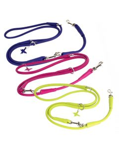Multi functional rolled reather Leash